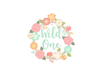 Wild One Sticker, Wild One Treat Bag Sticker, Boho Sticker, 1st Birthday Sticker, Custom Wild One Sticker, Wild One Goody Bag Sticker