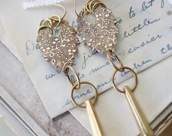 Long  Dangle Gold Earrings - Boho Earrings - Long Drop Earrings - Best Friend Earrings Gift - Dangle Earrings for Wife - Gold Earrings