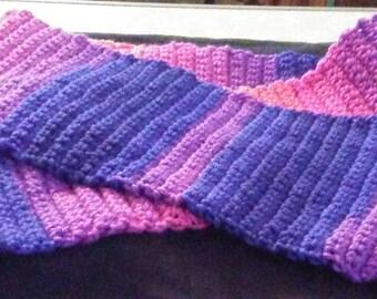 Multicolored Crochet Scarf