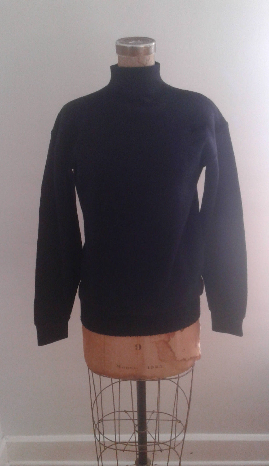 Vintage 1960's US Navy Blue Wool Deck Sweater Pullover Vietnam War ...