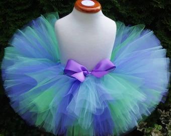 Baby Tutu, Birthday Tutu, Ocean Tutu, Newborn Tutu, Purple Green Blue Tutu, Cakesmash Tutu,  Toddler, Girl, Dance Tutu, Photo Prop, Costume