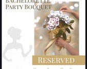 Reserved* Custom Bachelorette Flower Bouquet, Casino Theme, Playing Card Flowers