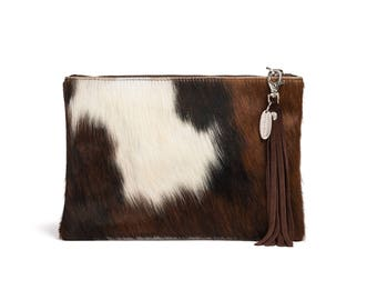Hair on Hide Bag | Cowhide Purse | Cow hide Purse | Handcrafted in England