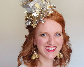 christmas headband adult, silver christmas headband, gold headband christmas, ugly christmas sweater party, womens christmas headband