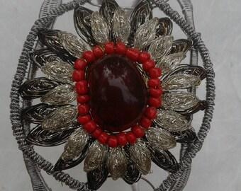 Carnelian Flower Bracelet