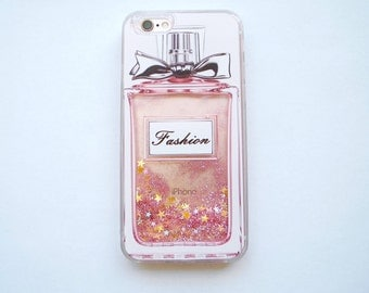 Liquid Glitter iPhone case 6 7 perfume fashion pink glitter glass beauty makeup pretty cute adorable stardust cute gold star glass