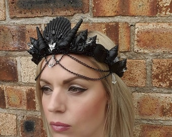 Black Crystal Mermaid Crown