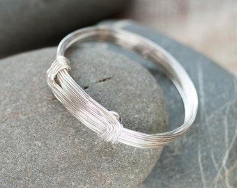 Silver Statement Bracelet, Silver Bangle, Birthday Bracelet, Gift Bangle