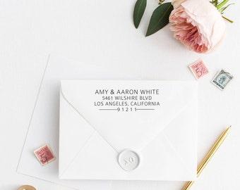 Custom Return Address Stamp, Self Ink Return Address Stamp, Personalized Address Stamp, Calligraphy Address Stamp Return Address Stamp No2