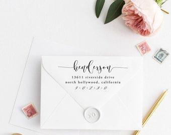 Custom Return Address Stamp, Self Ink Return Address Stamp, Personalized Address Stamp, Calligraphy Address Stamp Return Address Stamp No30