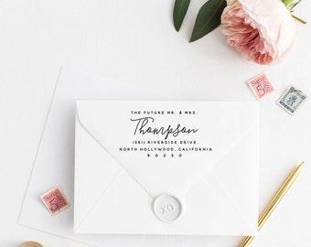 Custom Return Address Stamp, Self Ink Return Address Stamp, Personalized Address Stamp, Calligraphy Address Stamp Return Address Stamp No44
