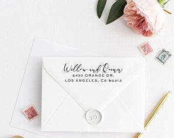 Custom Return Address Stamp, Self Ink Return Address Stamp, Personalized Address Stamp, Calligraphy Address Stamp Return Address Stamp No47