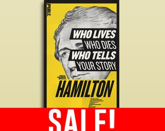 SALE! Hamilton Musical Poster - Public Theater - 11x17