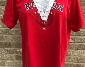 Vintage Boston Red Sox Lace-Up Tee (S)