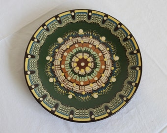 Ceramic Plate - Handmade Traditional Bulgarian Pottery
