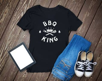 Grill shirt - bbq-king of the grill-bbq shirt-grill shirt-t shirt-bbq gift-barbecue shirt-bbq gifts-grilling shirt