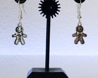 Gingerbread man - Christmas earrings II.