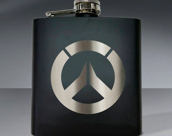 Overwatch Circle Inspired Flask - 6 oz flask