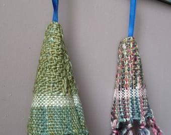 Hanging decorations - tree - handwoven