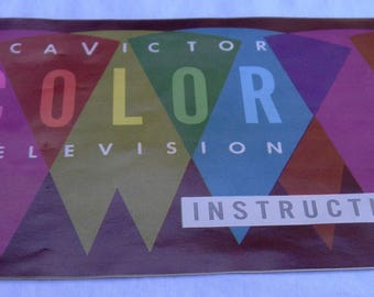 RCA Victor Color Television Instructional Booklet Early 1960's