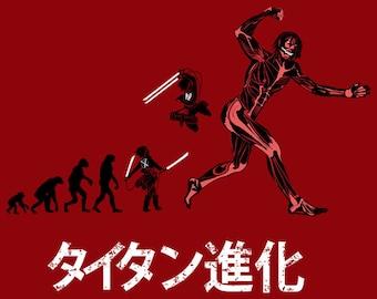 Titan Evolution T-shirt / Eren Jaeger Tee / Anime & Manga / Free Shipping worldwide/