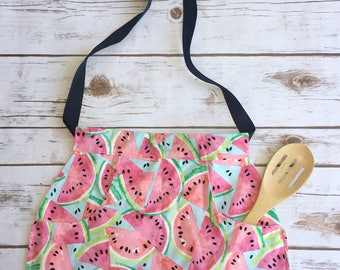 Watermelon apron set- mommy and me apron set- mother daughter aprons- summertime apron set- watermelon-gifts for mom-