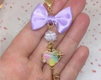 Jewelry bag - heart shaped key