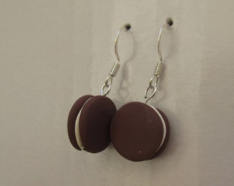 Chocolate Oreo Cookie Clay Earrings