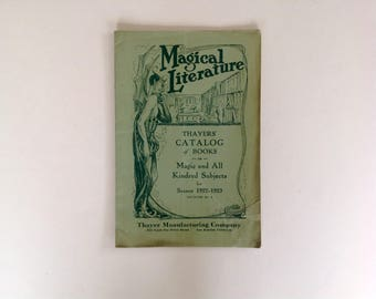 Magical Literature - Thayer's Catalog of Books - Magic and All Kindred Subjects for Season 1922-1923 -Rare