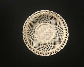 Irish Belleek Articulated Basket