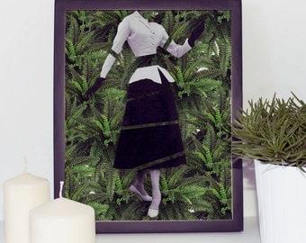 Plant print - Botanical Print - Leaf illustration - Wall art prints