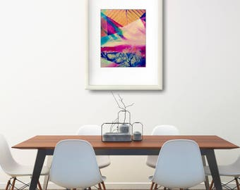 Large Abstract Poster, Xmas Wife, Abstract Painting Print Gift, Xmas Wife, Modern Abstract Art Print Gift, Christmas Gift Modern Art Print