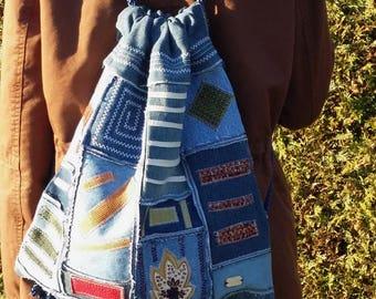 """Bag Backpack """"RagBag Denim-Color"""""""