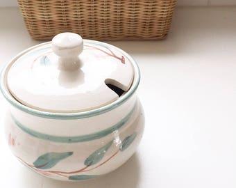 Australian pottery sugar bowl