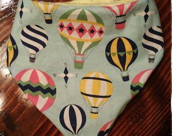 Hot air balloon bandana reversible bib