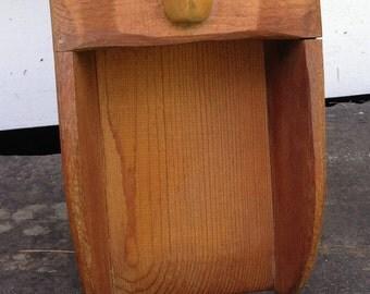 Antique Decorative Wooden Grain or Feed Scoop~~~Wolf Creek Eldora Company~~~Farm, Home, or Kitchen Decor
