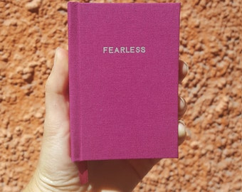 FEARLESS Notebook / Sketchbook / Journal - Handmade - Unique - Small pocket book - 11 x 7.5 cm - Feminist collection