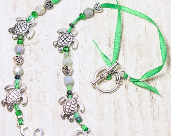 Sea Turtle Lover Necklace, Turtle necklace, Turtles, Sea turtles, Turtle jewelry, Turtle lover gift, Green necklace, Gift for her