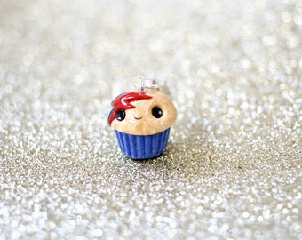 Ziggy Stardust Charm, Cupcake Charms, Food Charms, Cupcake Necklace, Mini Food Pendant, Miniature Food Jewelry, Food Earrings, David Bowie