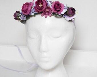 Purple childs flower crown