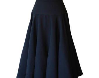 Crepe Circle Skirt