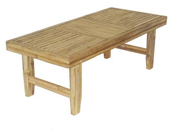 Fancy Bamboo Patio Coffee Table - Indoor and Outdoor Furniture