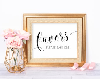 Printable Wedding Favors Sign, Favors Wedding Sign, Favors Please Take One, Wedding Favor Sign, Favors Wedding Printable, Favours Sign