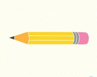 Pencil SVG, PNG, DXF, Cute Pencil, Silhouette Files, Cricut Files, Back To School svg
