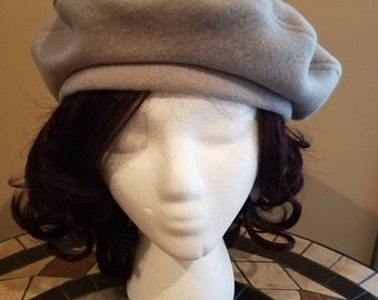 Light Gray Beret Hat Tam
