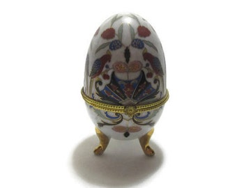 Vintage Parriot Egg Trinket Box