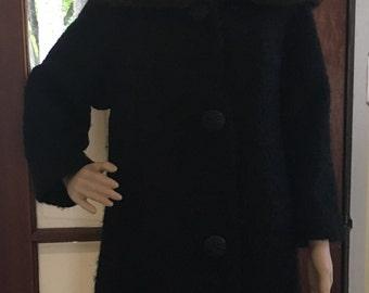 1960s Berroco Coat with Fur Trim Neckline