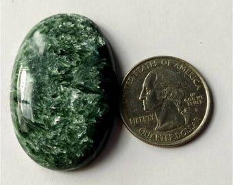 41.55x27.90mm,Ovel Shape Seraphinite Russian Cabochon /,Attractive  Seraphinite /wire wrap stone/Super Shiny/Pendant Cabochon/Semi Precious