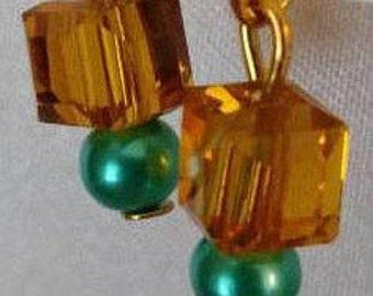 Dangle Earrings - Earrings - Gold Earrings - Beaded Earrings