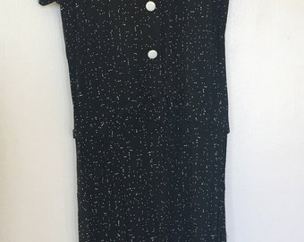 1940's Black and White Dress Summer Dress